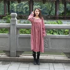 Japanese Style Dress Autumn Winter 2017 New Cotton Nylon