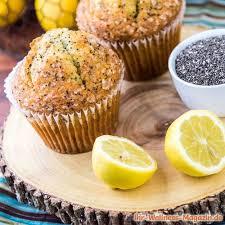 saftige low carb zitronen mohn muffins einfaches rezept