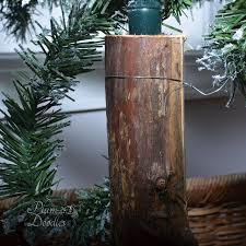 Hollow Out A Small Log To Cover Up That Fake Tree Trunk