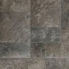 Sheet Vinyl Flooring Menards by Resilient Modular Slate Vinyl Floor For Basement Kitchen Foyer