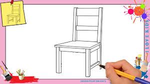 dessin chaise comment dessiner une chaise facilement pour enfants
