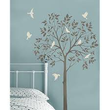 Large Tree And Birds Stencils