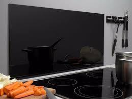 spritzschutz glas 40 x 80 cm schwarz glasrückwand küche herd wand waschbecken bad