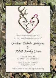 Camo Deer Head Wedding Invitations Birthday Deer Hunter Camo