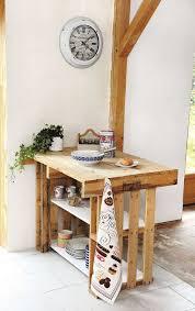 meuble cuisine palette diy créer un îlot central avec des palettes pallets repurpose