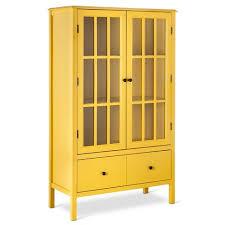 yellow windham threshold tall cabinet at target furniture
