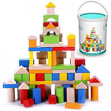 amazon com melissa u0026 doug wooden building blocks set 100 blocks