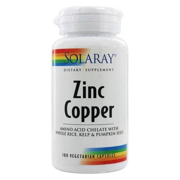 Solaray Zinc Copper - 100 Capsules, 50mg