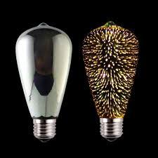 soft white st64 3d led bulb for ktv bar decoration led filament