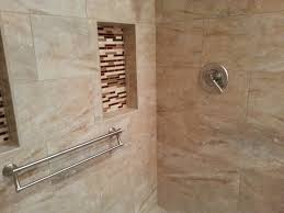 handicap grab bars for tile shower home ideas collection