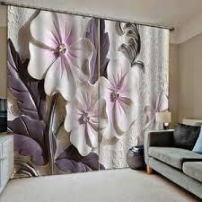 blumen muster gardine modern vorhänge fenstervorhang für wohnzimmer