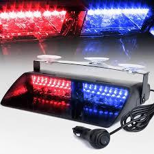 100 Truck Strobe Lights 16 Leds 18 Flashing Modes 12V Car Emergency Flasher Dash