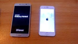 Samsung Galaxy Note 5 vs iPhone 6 Speed Test HD