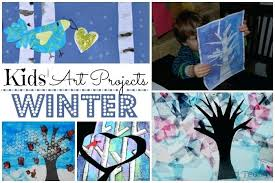 Winter Art Ideas Preschoolers Easy Crafts For Kids Red Ted Arts Blog Projects
