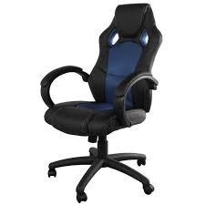 fauteuil de bureau gaming montecarlo fauteuil de bureau gamer sur roulettes en simili noir