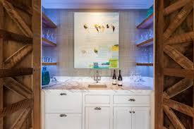 Hidden Wet Bar With Double Doors