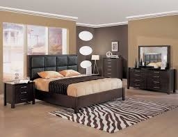 Bedroom Ideas In Brown Headboard Dominates This Small With White