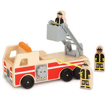 Trendy Melissa Doug Classic Toy Wooden Fire Truck Kids Wooden Fire ...