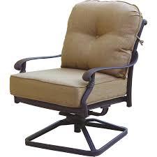 Darlee Patio Furniture Quality by Darlee Elisabeth Cast Aluminum Patio Swivel Rocker Dining Chair