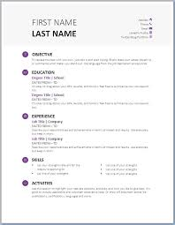 Free Printable Resume Template For Students In Word