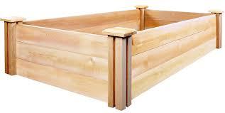Greenes Fence Raised Garden Bed by Amazon Com Greenes Fence Cedar Raised Garden Kit 2 Ft X 4 Ft X