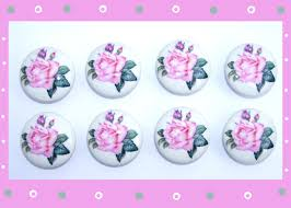 Pink Rose Dresser Knobs by 8 Classic Large Pink Rose And Buds Kids Girls Dresser Drawer Knobs