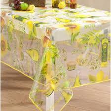 nappe toile ciree au metre toile cirée transparente provence jaune nappe cristal badaboum