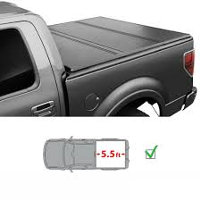 100 F 150 Truck Bed Cover 55ft Lock Hard Solid Triold Tonneau It 0418 Ord