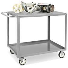 Uline Welded Steel Flat Shelf Cart