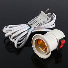 usa e27 led light bulb l holder extension socket