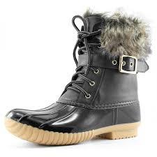 amazon com women u0027s dailyshoes snow booties up ankle buckle duck