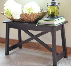 Ana White Sofa Table by Espresso Stain Ana White Woodworking Projects