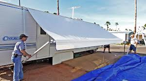 How To Replace An RV Patio Awning - TheRVgeeks Orlando Awning Installer Awnings 1950s Vintage Jc Higgins Canvas Umbrella Tent Sears Model Camping Roof Top Camper Family Car Shade Trailer Beach Main And Only Chrissmith Durban Appealing Carports Between Two Buildings Commercial Kansas City Universal Tent Canopy Awning Porch Idea Fox And Co Old News Monumental 1940s Americana Painted Circus Banner By O Henry Forever Young At Overland Equipment Tacoma Habitat Line Overland Ground Tentawning Options Bound Community