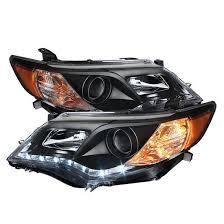 2012 13 toyota camry black projector headlights