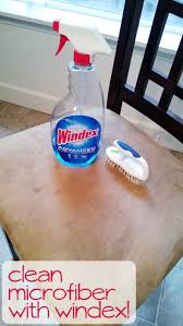 Clean Microfiber with Windex