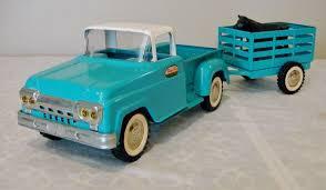 100 Vintage Tonka Truck 106061 PickUp StakeSide Trailer Set Profit