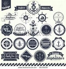 19 Vintage Retro Nautical Badges And Labels Stock Vector 96356087 Shutterstock