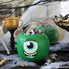 Mike Wazowski Jack O Lantern Pattern by Monster U0027s University Mike Wazowski Trick Or Treat Bucket The