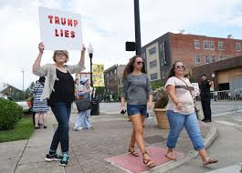 Pumpkin Festival Beckley Wv by Supporters Protesters Gather For Trump Rally News Register