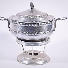 Mid Century Aluminum Chafing Dish