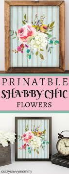 PRINTABLE Shabby Chic Watercolor Flower Bouquet This Wall Art