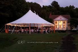 Evening Wedding Reception Under A Sailcloth Tent
