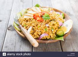 maggi cuisine spicy fried curry instant noodles or malaysian style maggi goreng