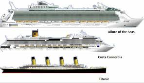titanic vs modern cruise ships 2 costa concordia and