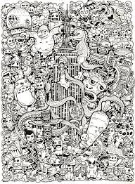 43 Best Doodle Invasion Coloring Book Images On Pinterest