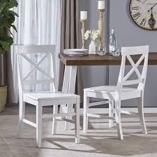 Amazon.com : Great Deal Furniture 303851 Truda Farmhouse White ... White Ding Chair Swedish Nordic House Shop Wooden With Slatted Back Set Of Two On Better Homes And Gardens Collin Distressed Amazoncom Target Marketing Systems 2 Tiffany Chairs Detail Feedback Questions About Giantex 4 Pvc Homesullivan Rosemont Antique Wood Intertional Fniture Direct Room With Solid Wood Upholstered Button Tufted Leatherette Of Grace Rain Pier 1 Creme