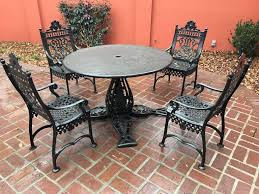 Five Piece Cast Iron Patio Set Marked In Casting Early Victorian Jacobs Mfg