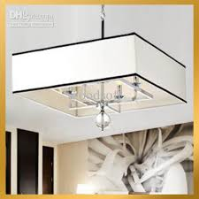 Maskros Pendant Lamp Uk by Discount Contemporary White Rectangular Shade Ceiling Chandelier