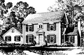 Pictures Small Colonial House by Colonial House Plans Maumee 42 007 Associated Designs
