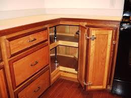 Upper Corner Kitchen Cabinet Ideas by Upper Corner Kitchen Cabinets Walnut Cabinet Terracotta Stone